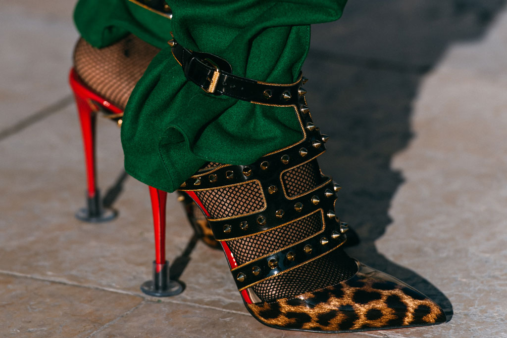 Paris Couture Week, christian louboutin, street style, leopard print