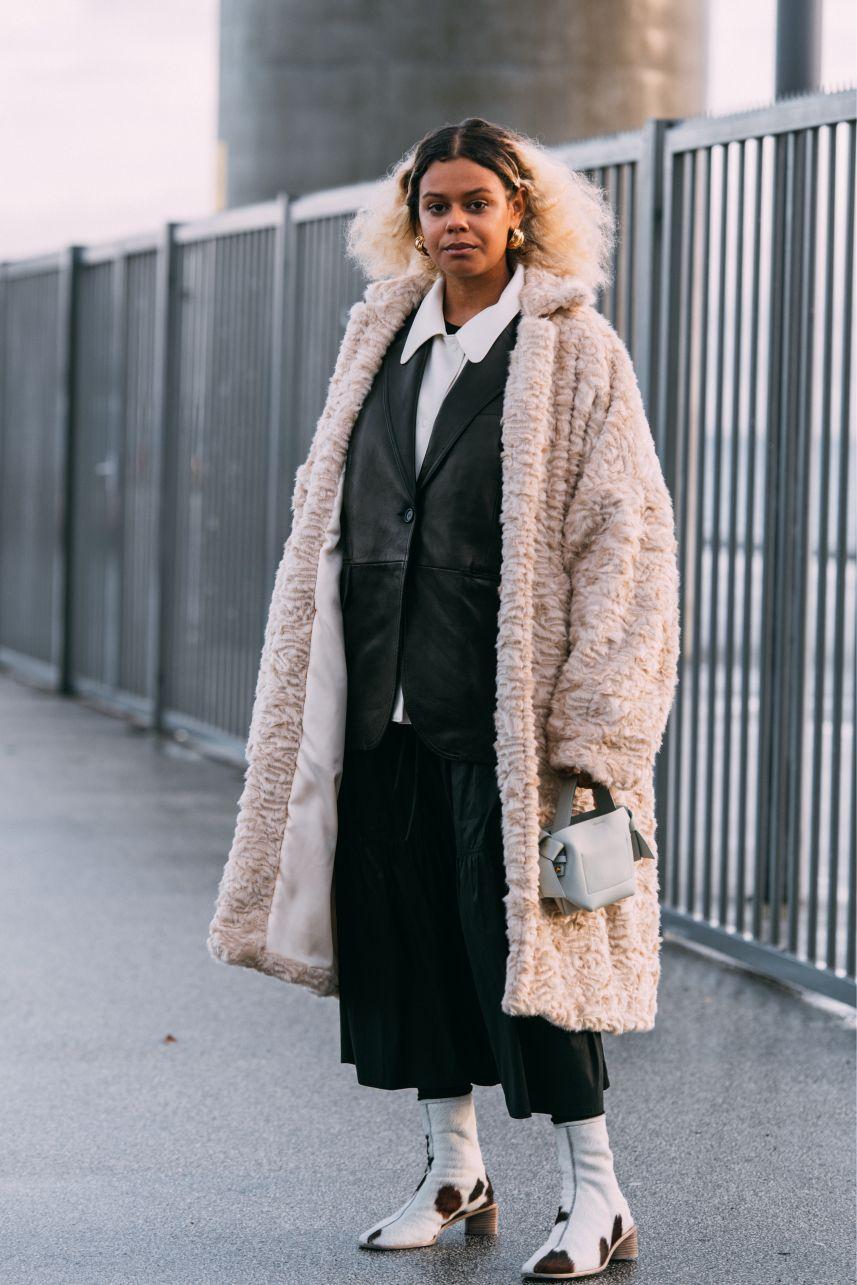 Maya Paustian, Acne Studios, copenhagen fashion week, street style, cfw, aw20, fall 2020