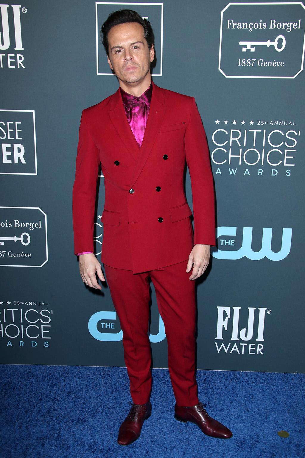Andrew Scott25th Annual Critics' Choice Awards, Arrivals, Barker Hanger, Los Angeles, USA - 12 Jan 2020