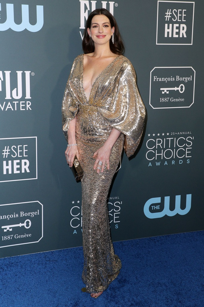 Anne Hathaway25th Annual Critics' Choice Awards, Arrivals, Barker Hanger, Los Angeles, USA - 12 Jan 2020