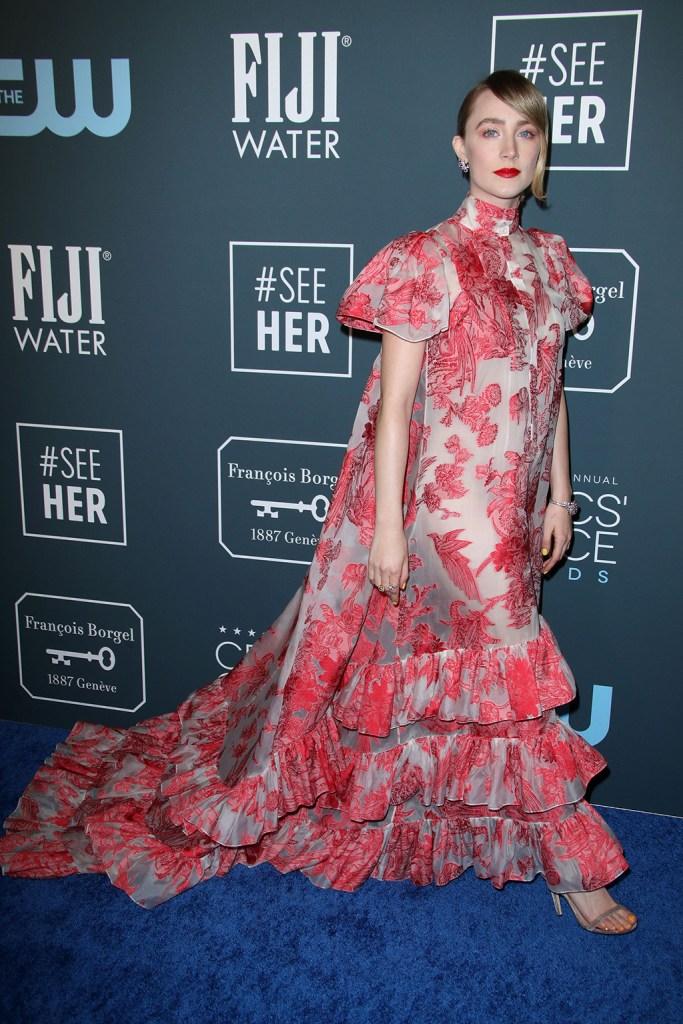 Saoirse Ronan25th Annual Critics' Choice Awards, Arrivals, Barker Hanger, Los Angeles, USA - 12 Jan 2020