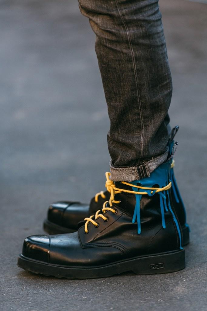 cult, street style, combat boots, mfw men's, milan