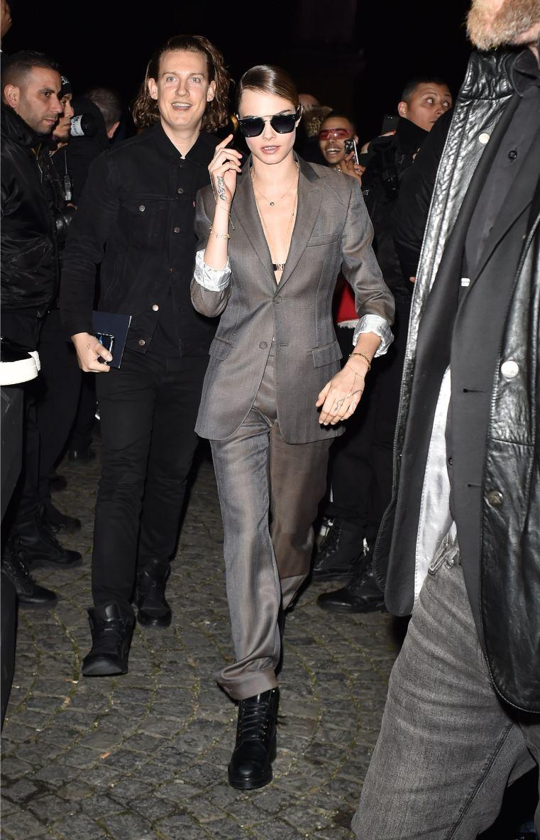 cara delevingne, dior, paris, suit