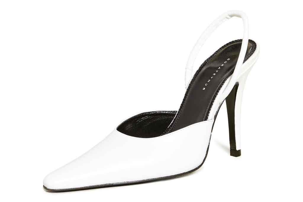 Dorateymur, white pumps, slingback heels, stilettos