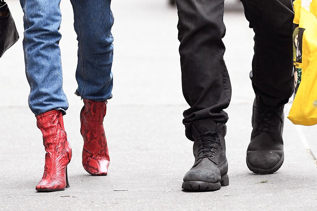Sebastian bear McClard, emrata, emily ratajkowski, red boots, new york, street style