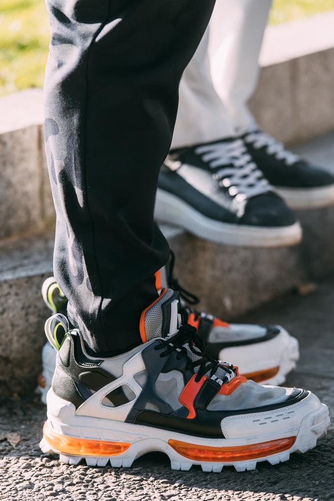 Emporio Armani , milan fashion week mens, street style, sneakers, fall 20
