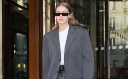 Gigi leaving her hotel during Haute