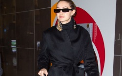 Gigi Hadid arrives at JFK airport