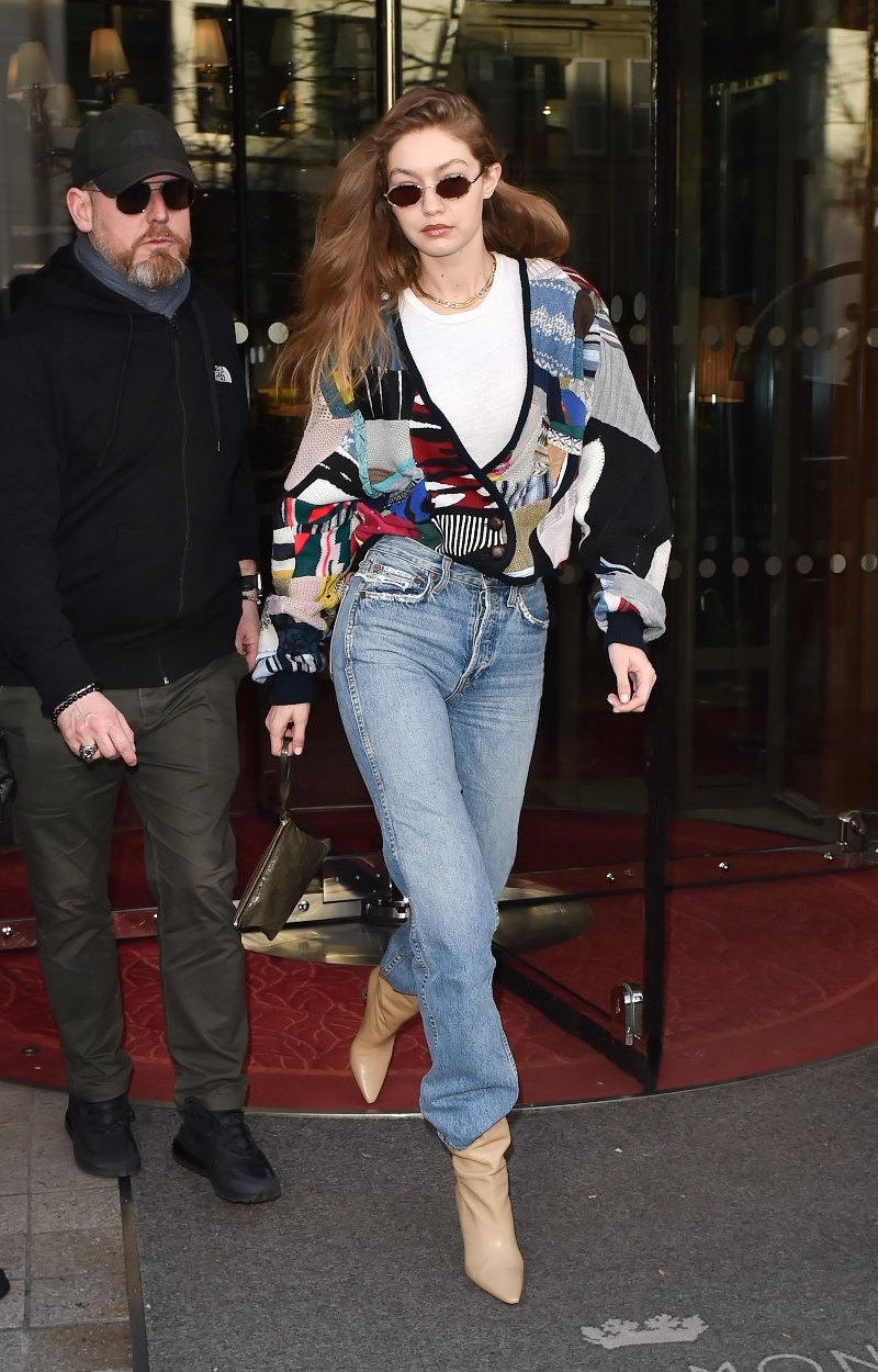 Gigi Hadid stuns in a dazzling white blazer paired with a