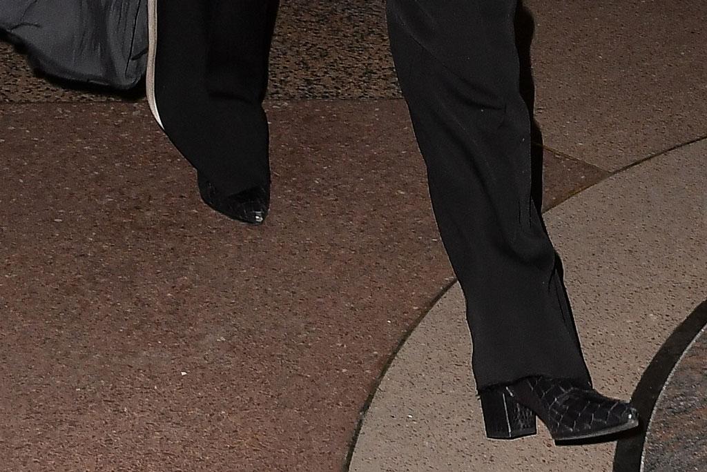 Gigi Hadid, black boots, croc-embossed boots, celebrity style, street style, zayn malik birthday