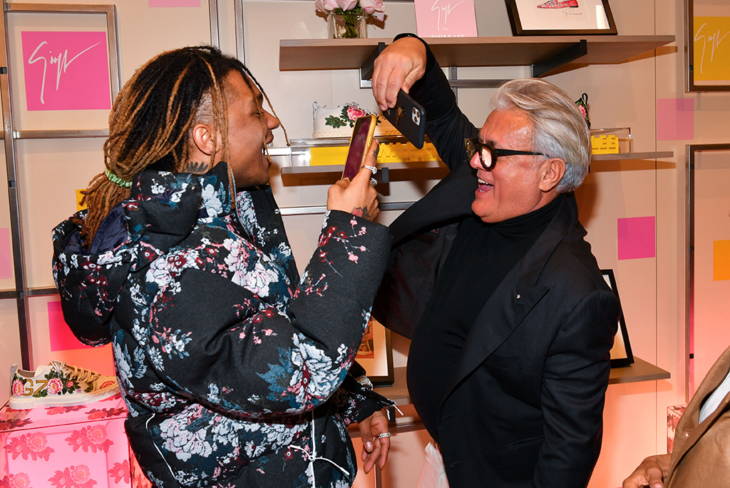 Swae Lee and Giuseppe ZanottiGiuseppe Zanotti x Swae Lee shoe collection launch, Saks Fifth Avenue, Miami, USA - 31 Jan 2020
