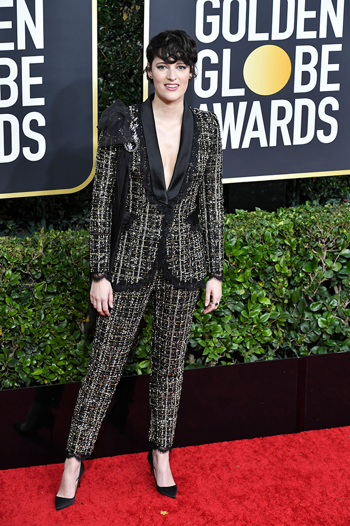 Phoebe Waller-Bridge77th Annual Golden Globe Awards, Arrivals, Los Angeles, USA - 05 Jan 2020Wearing Ralph & Russo Same Outfit as catwalk model *10325132ab