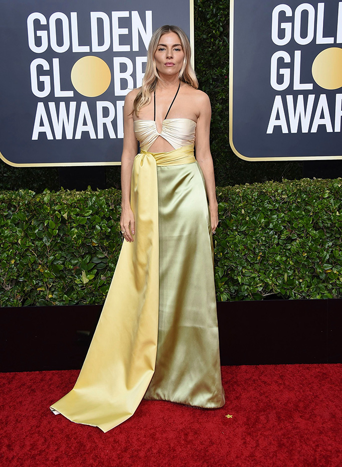 Sienna Miller arrives at the 77th annual Golden Globe Awards at the Beverly Hilton Hotel, in Beverly Hills, Calif77th Annual Golden Globe Awards - Arrivals, Beverly Hills, USA - 05 Jan 2020