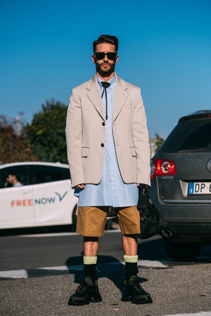Prada , milan fashion week, fall 2020, street style, sneakers