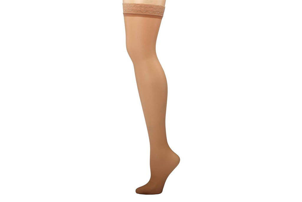 hanes thigh high stockings