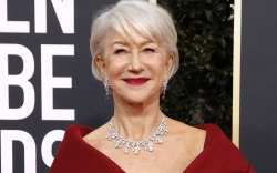 Helen Mirren, golden globes, red carpet,