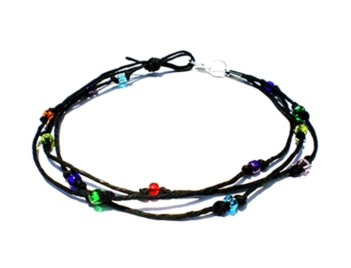 Hempnotic Jewelry beaded hemp anklet