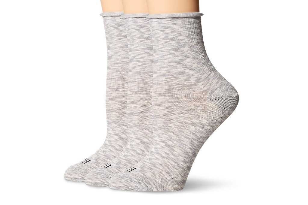 HUE Roll Top Shortie Sock