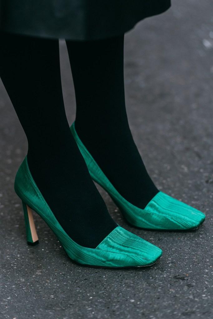 Domitilla Rapisardi , iindaco, pumps, green shoes, paris, haute couture week