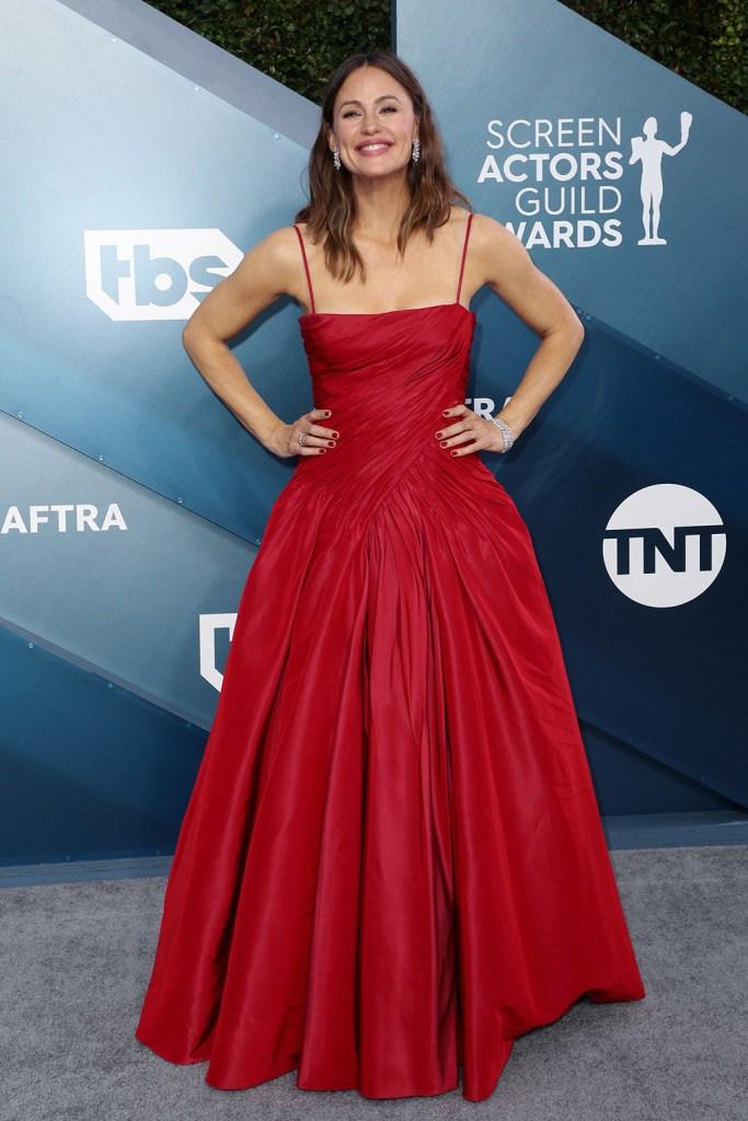 Jennifer Garner, red gown, red carpet, 26th Annual Screen Actors Guild Awards, Arrivals, Shrine Auditorium, Los Angeles, USA - 19 Jan 2020