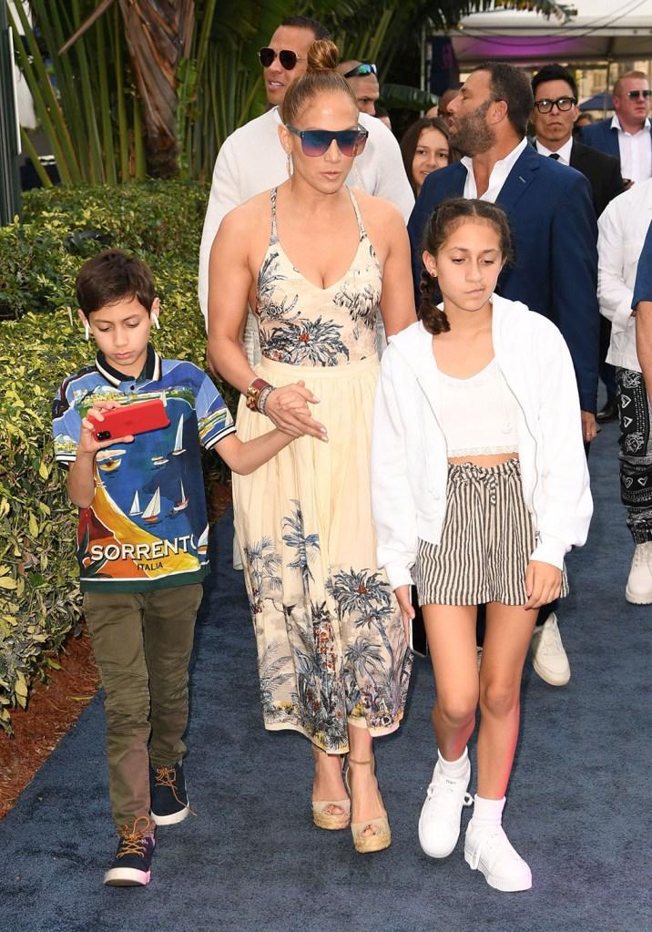 Jennifer Lopez, Emme Maribel Muniz, Maximilian David Muniz and Alex RodriguezPegasus World Cup, Hallandale Beach, Florida, USA - 25 Jan 2020
