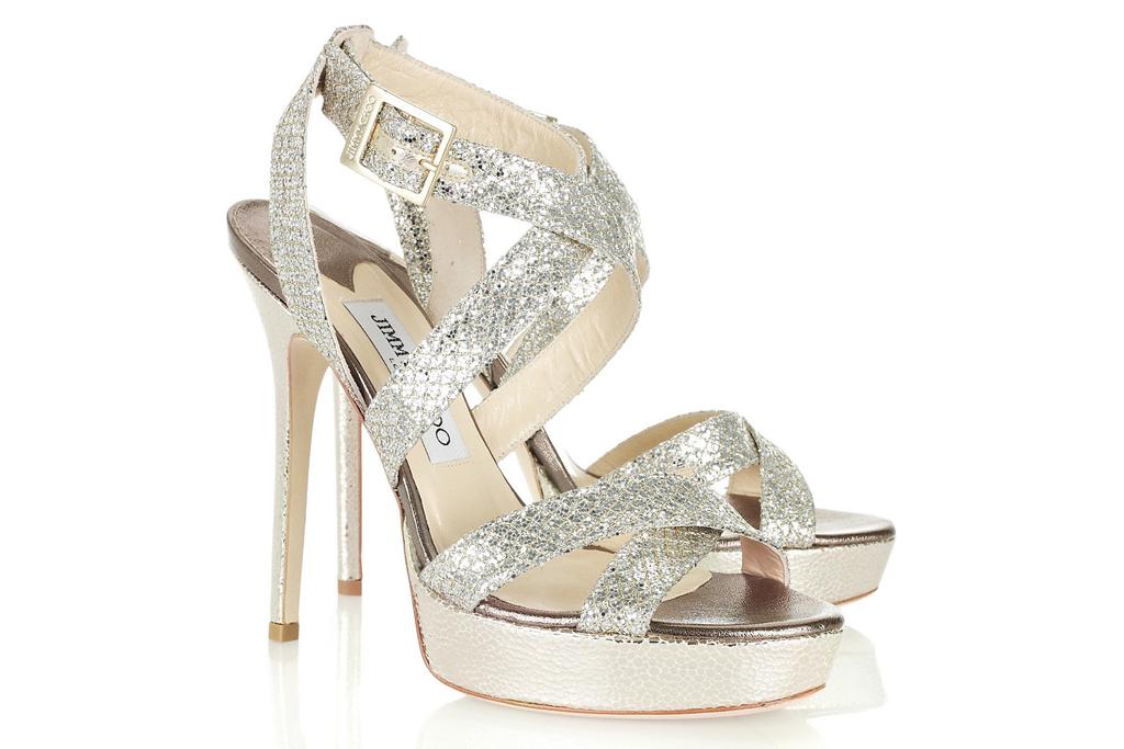 jimmy choo, glitter sandals, kate middleton