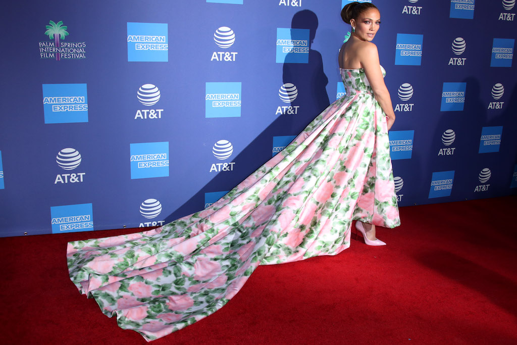 Jennifer LopezPalm Springs International Film Festival Awards Gala, Arrivals, Convention Center, Palm Springs, USA - 02 Jan 2020Wearing Richard Quinn Wearing Richard Quinn same outfit as catwalk model *10411768aq