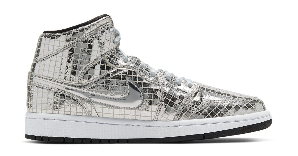 Air Jordan 1 Mid 'Metallic Silver'
