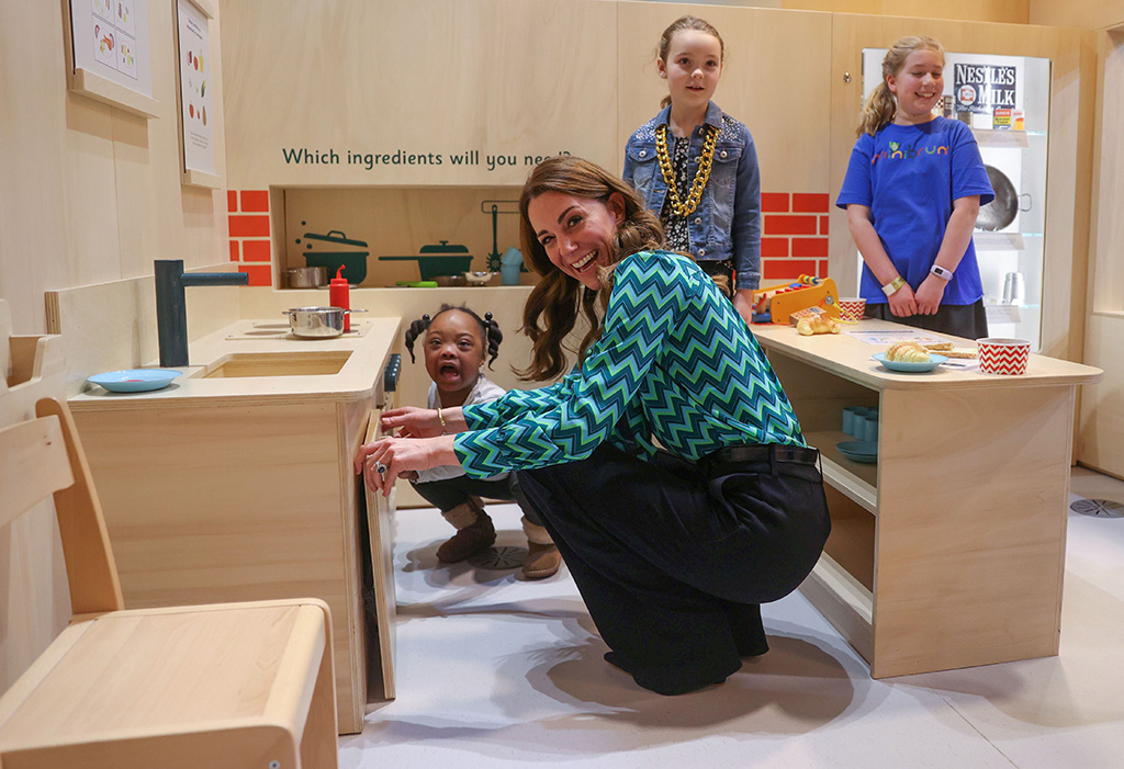 kate middleton, zig zag top, jigsaw pants, tabitha webb shirt, Catherine Duchess of Cambridge, visits Thinktank, Birmingham Science MuseumCatherine Duchess of Cambridge nationwide tour, UK - 21 Jan 2020