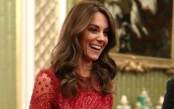 Kate Middleton, celebrity style, red dress