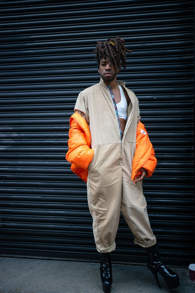 Street Style at the Old Truman Brewery, Brick Lane, East London.Street Style, Fall Winter 2020, London Fashion Week Men's, UK - 05 Jan 2020