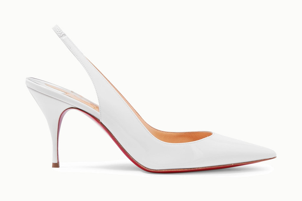 Christian Louboutin , clare, slingback pumps, white heels