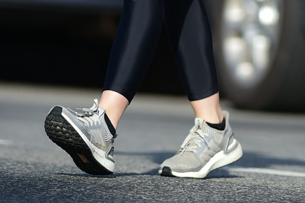 lucy hale, out and about, los angeles, coffee, pe nation, adidas, leather jacket