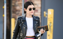 lucy hale, out and about, los