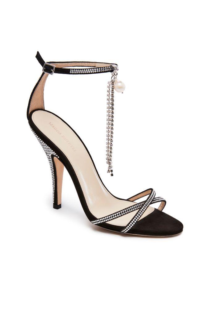 magda butrym sandal, high heels, crystals