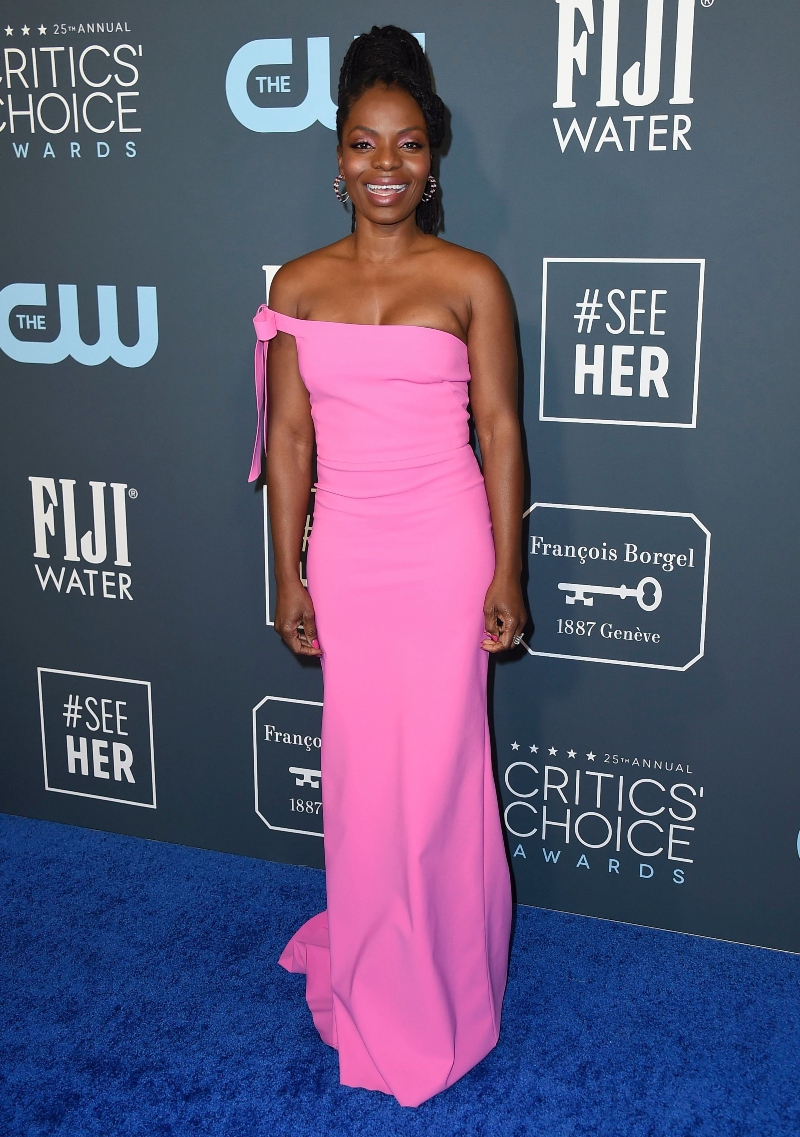 marsha stephanie blake, when they see us, pink dress, critics choice
