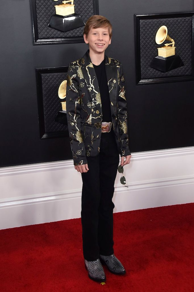 Mason Ramsey arrives at the 62nd annual Grammy Awards at the Staples Center, in Los Angeles 62nd Annual Grammy Awards - Arrivals, Los Angeles, USA - 26 Jan 2020