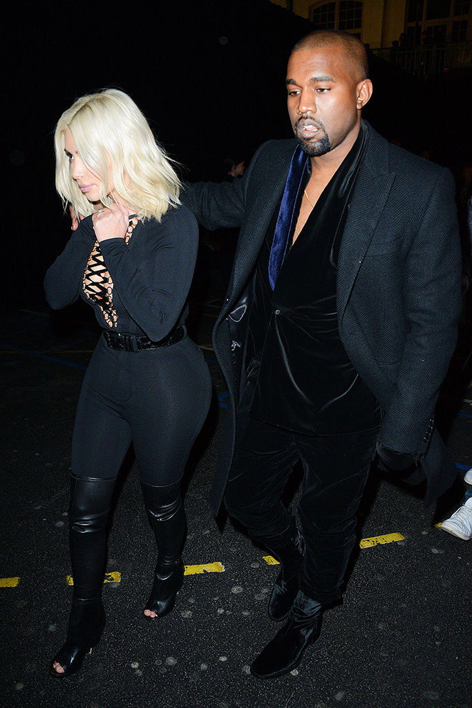 Kim Kardashian West and Kanye West Givenchy show, 2015, men in heels, historical