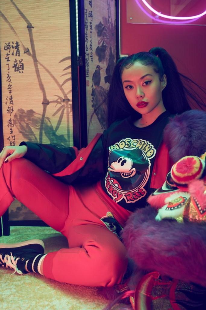 Moschino, mickey rat, chinese new year, cartoon, high top sneakers, t shirt, sweater