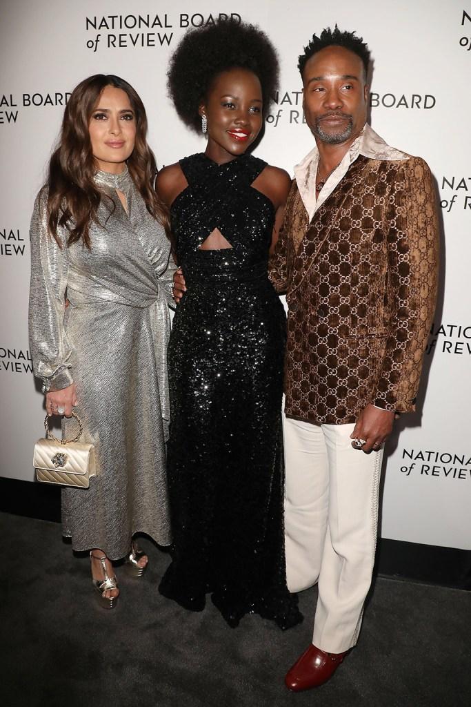 Salma Hayek, Lupita Nyong'o and Billy PorterNational Board of Review 2019 - Red Carpet Arrivals, New York, USA - 08 Jan 2020