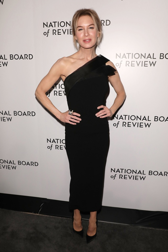 Renee Zellweger, jimmy choo shoes, classic black pumps, black gown, National Board of Review 2019 - Red Carpet Arrivals, New York, USA - 08 Jan 2020Wearing Atelier Caito for Herve Pierre, Shoes by Jimmy Choo