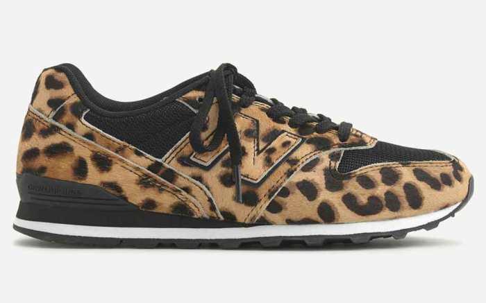 New Balance x J.Crew 996 , leopard print, sneakers