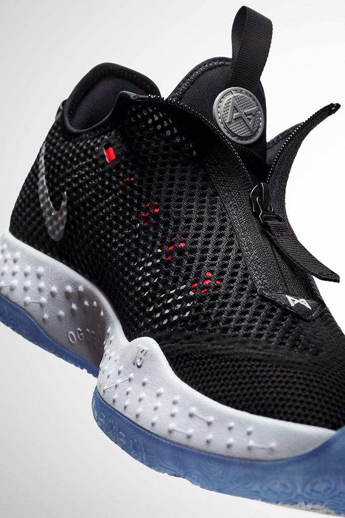 Nike PG 4, paul george shoes, zipper