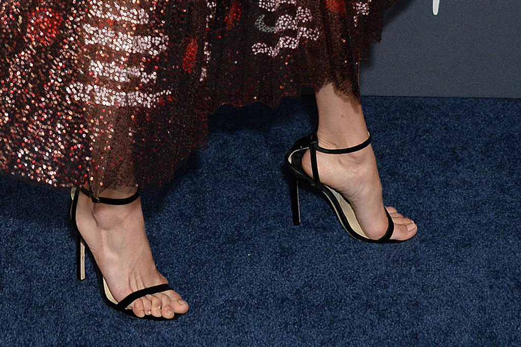Nina Dobrev, dior dress, gown, jimmy choo sandals, celebrity style, InStyle and Warner Bros Golden Globes After Party, Arrivals, Los Angeles, USA - 05 Jan 2020Wearing Dior, sandals, shoe detail