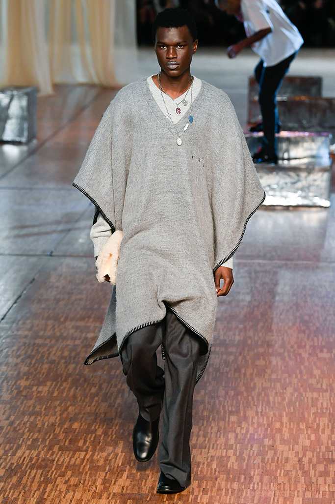 Model on the catwalkOff White show, Runway, Paris Fashion Week Men's, France - 15 Jan 2020