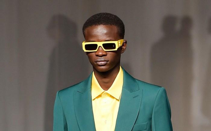 A model on the catwalkOff-White show, Runway, Autumn Winter 2020, Paris Fashion Week Men's, France - 15 Jan 2020