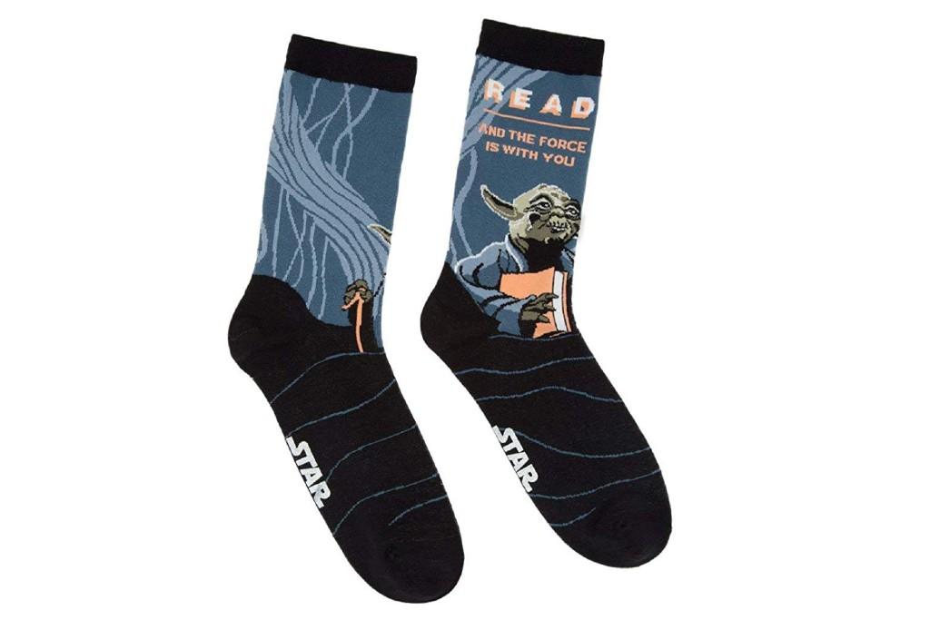 Out of Print Yoda Read Socks
