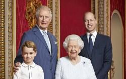 Prince George, Prince Charles, Queen Elizabeth