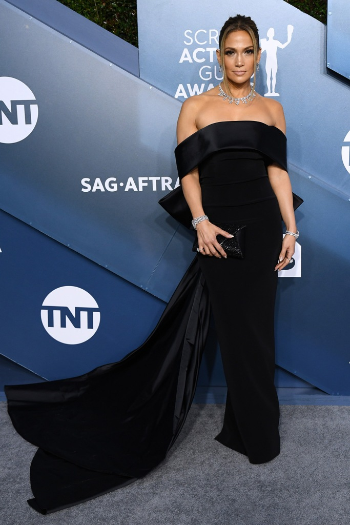 Jennifer Lopez, georges hobeika, black gown, diamonds, 26th Annual Screen Actors Guild Awards, Arrivals, Shrine Auditorium, Los Angeles, USA - 19 Jan 2020