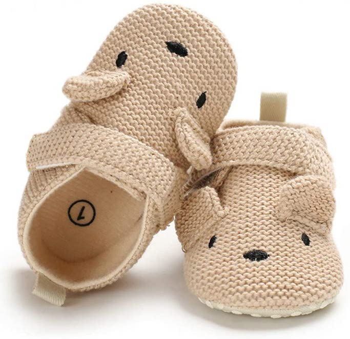sawimgly knit baby booties